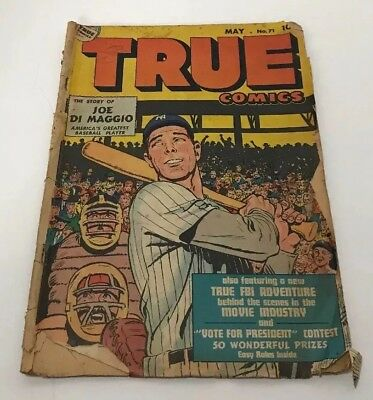 True Comics #71 May 1948 Joe Di Maggio Baseball