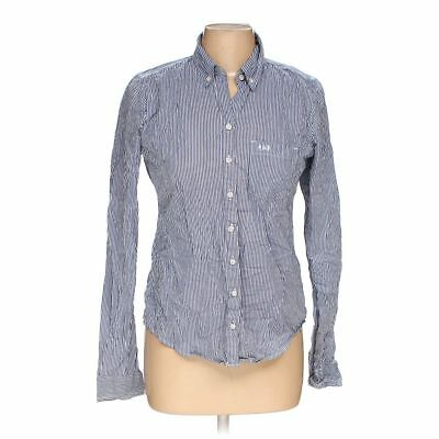 73c90330 ABERCROMBIE & FITCH Women's Button-down Shirt, size M, blue/navy ...