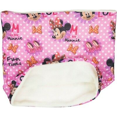 Minnie Mouse Schal / Loopschal/ Loop Innenfleece weiss