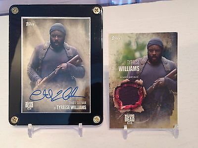 The Walking Dead Chad Coleman as Tyreese Season 5 Autograph Card and Relic Card