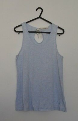 Peter Alexander Ribbed Singlet Size Small Light Blue Heather Top Tank