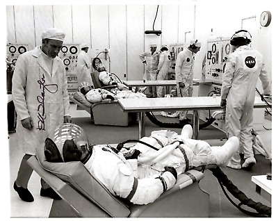 Signed (by Donald Slayton) Photograph of Apollo 14 Astronauts in Testing