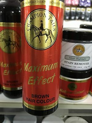 ~Horse Champion Tails Max Effect Hair Colour - Brown - 250Ml~ New