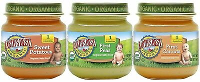 Earth's Best Organic Stage 1 Baby Food, My First Veggies Variety Pack (Carrots