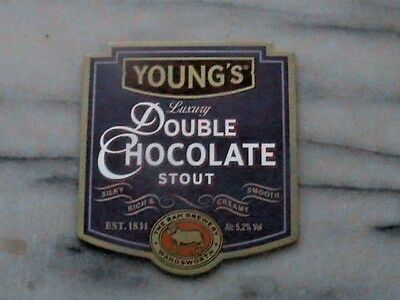 Young's Double Chocolate Stout real ale beer pump clip sign