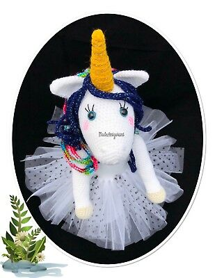 Crocheted Unicorn Ballerina