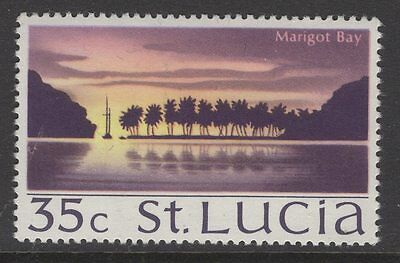ST.LUCIA SG285w 1970 35c DEFINITIVE WMK CROWN TO RIGHT OF CA MNH