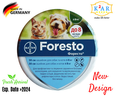 Bayer Seresto/Foresto Flea & Tick Collar For Small Dogs & Cats up to 8kg (18lbs)