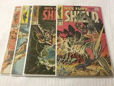 Nick Fury, Agent of SHIELD #2, #6, #11, #12. Reader's Copies. View Pics.