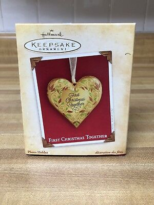 Hallmark Keepsake Ornament First Christmas Together Metal Locket 2004 QXG5334
