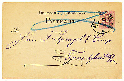 Germany Reich Postal Card # P 10  7 Copies (1880-1885)