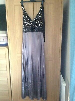 d580f252 MONSOON LONG EVENING Dress Size 12 Brand New With Tags - £4.00 ...