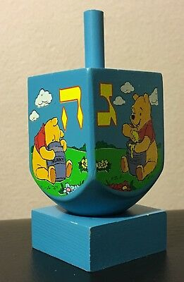 Winnie the Pooh Wooden Dreidel with Stand - Official Disney