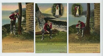 Asthore 3 x Song Cards Vintage Bamforth Song Postcards A20
