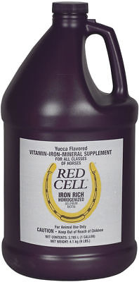 Red Cell Liquid 1 Gallon Equine Horse Vitamin-Iron-Mineral Feed Supplement
