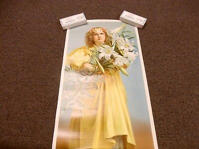 """C. D. Kenny Tea & Coffee Victorian Poster """"easter Lily"""""""