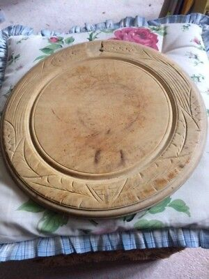 Vintage Bread Board with Carved Edges Farmhouse Worn Rustic Christmas