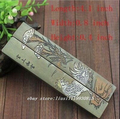Bronze Collection Antique Home Furnishing wenfangsibao Decoration Copper ruler