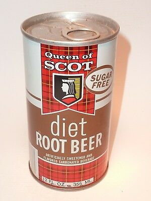 12oz Queen Of Scot Diet Sugar Free Root Beer Pull Tab