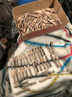90 Antique Wooden Clothes Pins 3 Types