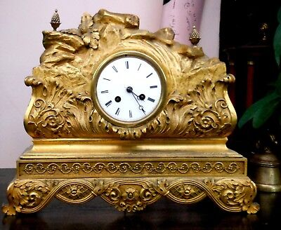 Gilt french beautiful mantle clock recently serviced.