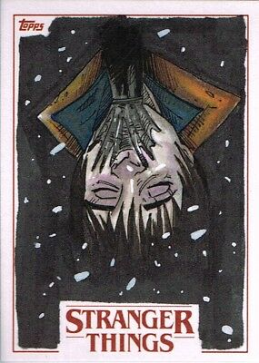 Official Topps Netflix Stranger Things sketch card season one Will 1/1