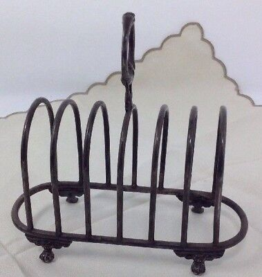 Superb Antique Victorian Daniel And Arter Silver Plated Paw Footed Toast Rack