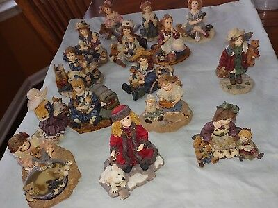 Yesterdays Child The Dollstone Collection Lot of 15 Dollstones Good  (Boyd's)