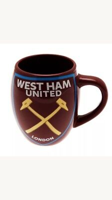 West Ham United Fc Tea Tub Mug Ceramic Coffee Cup Fathers Day Birthday Gift
