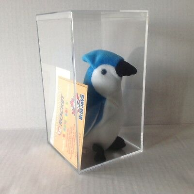 Beanie Babies ROCKET The Blue Jay Rare give away w Game Ticket and numbered card
