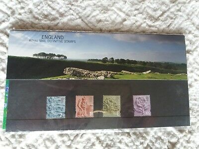 ROYAL MAIL MIINT DEFINITIVE STAMPS: ENGLAND PRESENTATION PACK 2001 (No. 54)