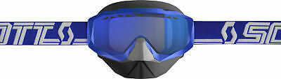 Scott USA Hustle X Snowcross Goggle Blue/White W/Sky Blue Lens