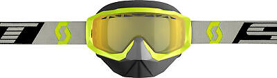 Scott USA Hustle X Snowcross Goggle Yellow/Grey W/Yellow Lens