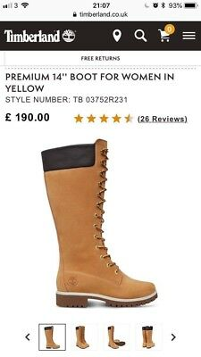 TIMBERLAND Inch Boot THE RRP£180 Premium WOMENS Original Yellow 6 0NP8nwOXk