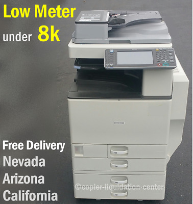 Ricoh MPC3002 MP C3002 color tabloid copier with finisher print speed 30 ppm fe