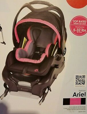 NEW Baby Trend Secure Snap Gear 32 Infant Car Seat AND Base Ariel Pink CS61041