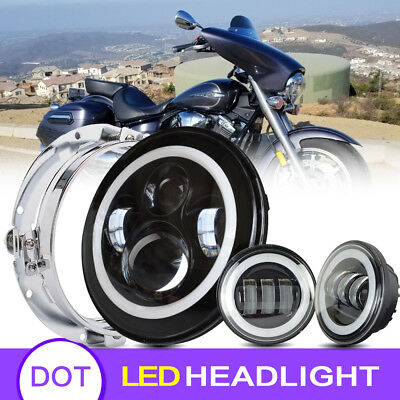 """Blackout 7"""" LED HaloMaker Headlight with Auxiliary Halo Passing Light"""