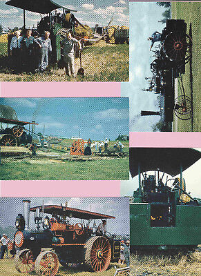 p339 | Five Antique Farm Equipment, mint cards from a 1959 state fair exhibition