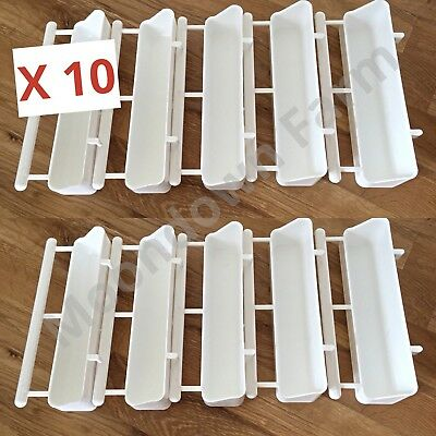 10X 17.5Cm Feeder With Perch Cage Bird Great For Finches, Canaries , Zebra Finch