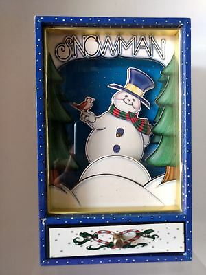 Snowman Animated Musical Jewelry Box