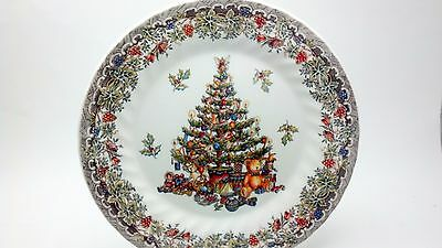 Churchill China Seasons Greetings  Dinner Plate Discontinued Vintage