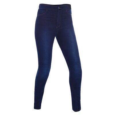 Oxford Super Jeggings Womens Ladies Fully Kevlar Lined Motorcycle Leggings Blue