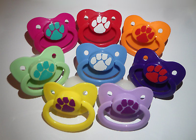 Adult Pacifier Soother Dummy abdl AgePlay mdlg mdlb ddlg ddlb Paw Print Pup kink