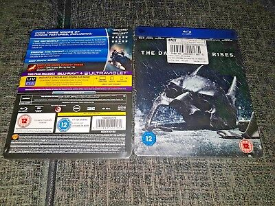 The Dark Knight Rises Limited Edition HMV Exclusive Steelbook Blu-Ray New&Sealed