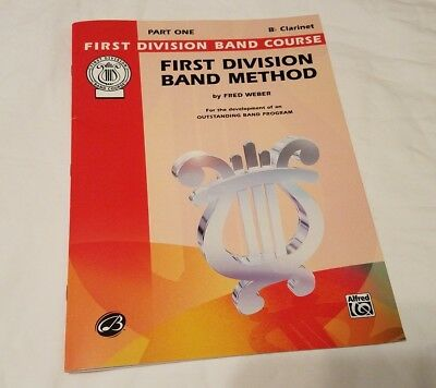 Bb Clarinet First Division Book Band Method Part One Music