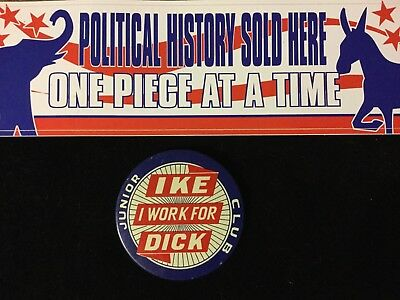 I Work For Ike-Dick Junior Club 3  Inch Button