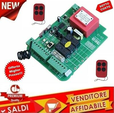 Central Of Command Automation 220V Gate Control Unit Card 2 Remote Controls