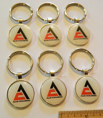 6 Each   Allis-Chalmers  Key Chains  Sterling Silver Plated
