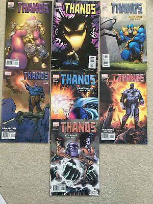 Thanos 5,6,7,9,10,11 (1st app the fallen) ,12 7 issues out of 12 all VF to NM+(9