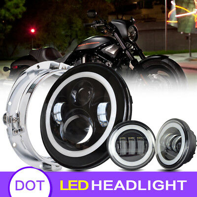 """Blackout 7"""" LED HaloMaker Headlight with Auxiliary Halo Passing Fog Lamps"""